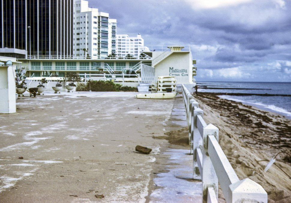 Free image of Empty buildings on the beach, USA