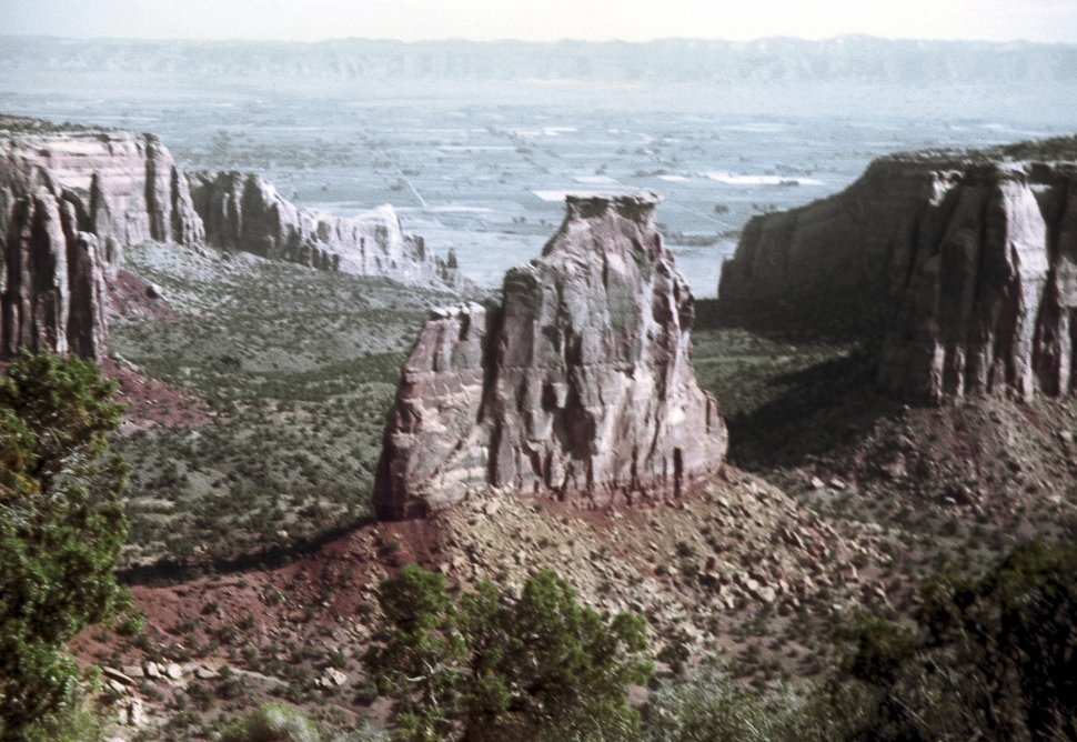 Free image of Rock formations and mesas from an aerial view, Colorado, USA