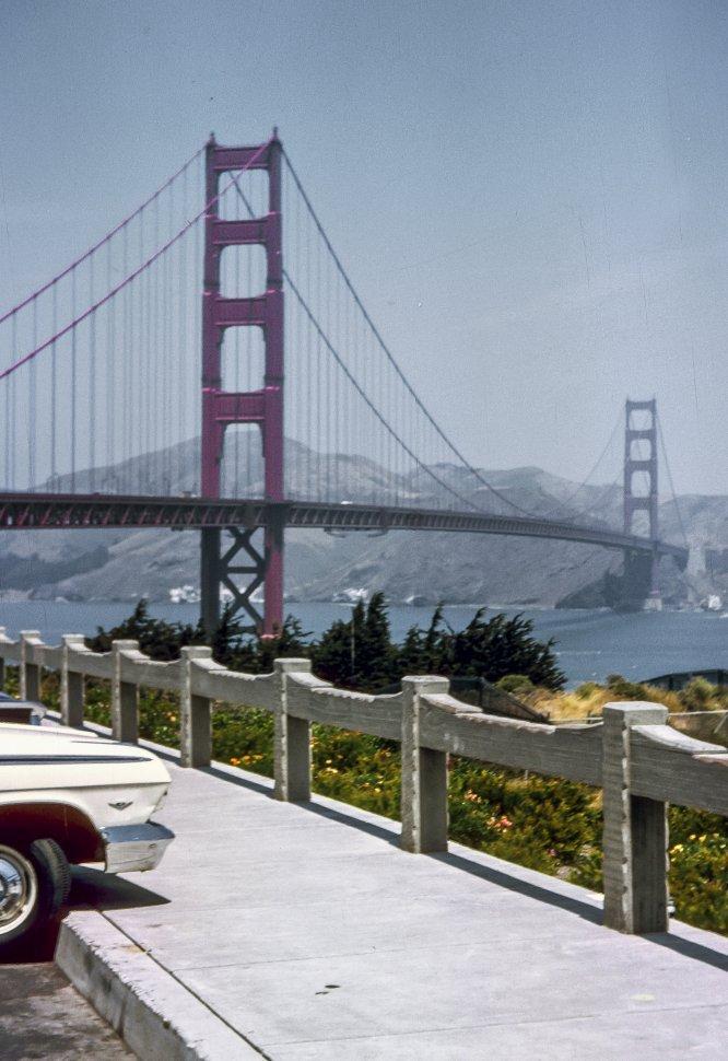 Free image of A scenic view of the Golden Gate Bridge, San Francisco, California, USA
