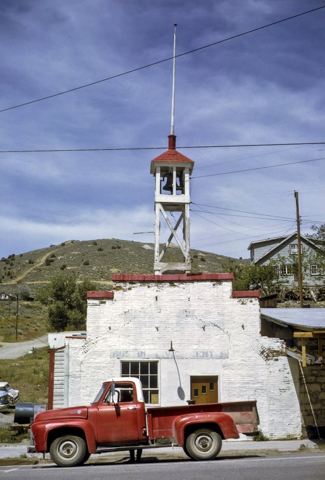 Free image of Church bell tower and steeple, circa 1969, Utah, USA