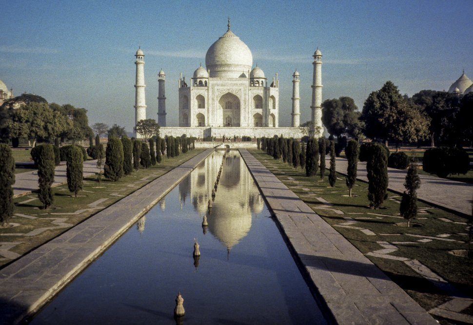 Free image of Reflective pool in front of an Taj Majal, India