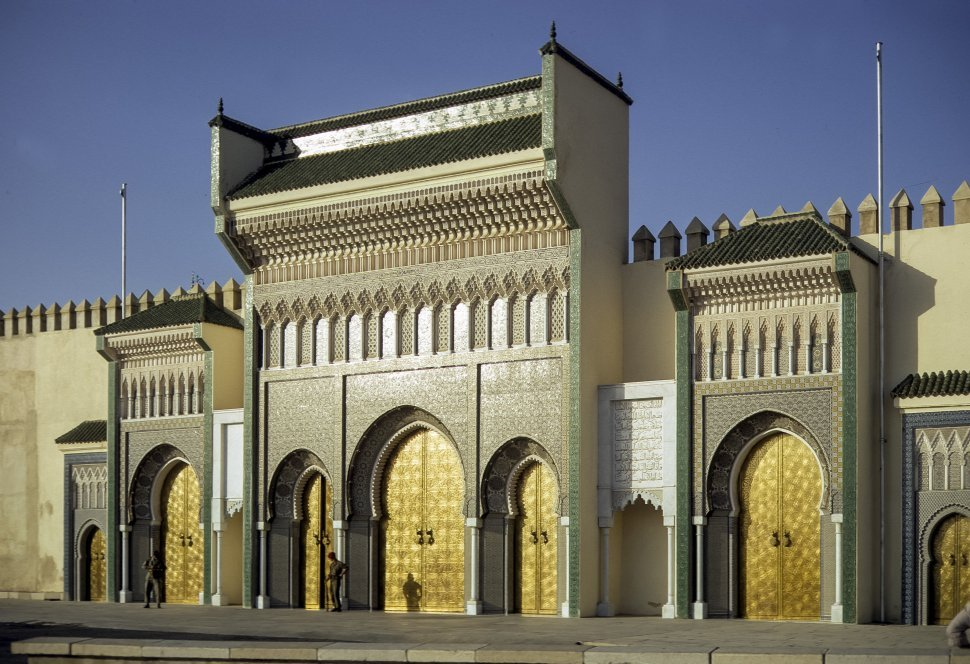 Free image of Golden archways of a Moroccan palace, circa 1971, Morocco, Africa