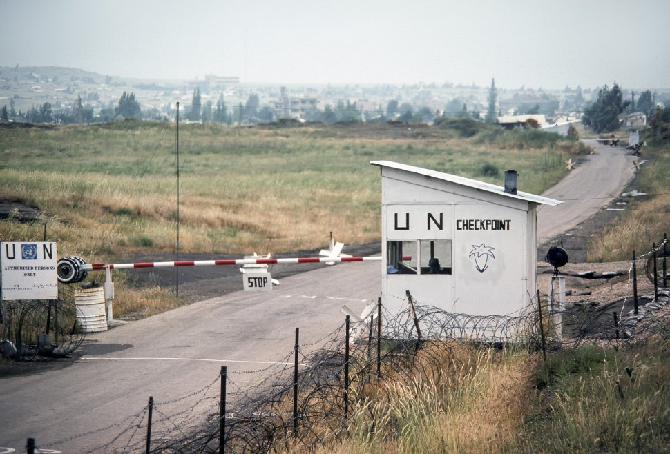 Free image of United Nations checkpoint and gate, Israel