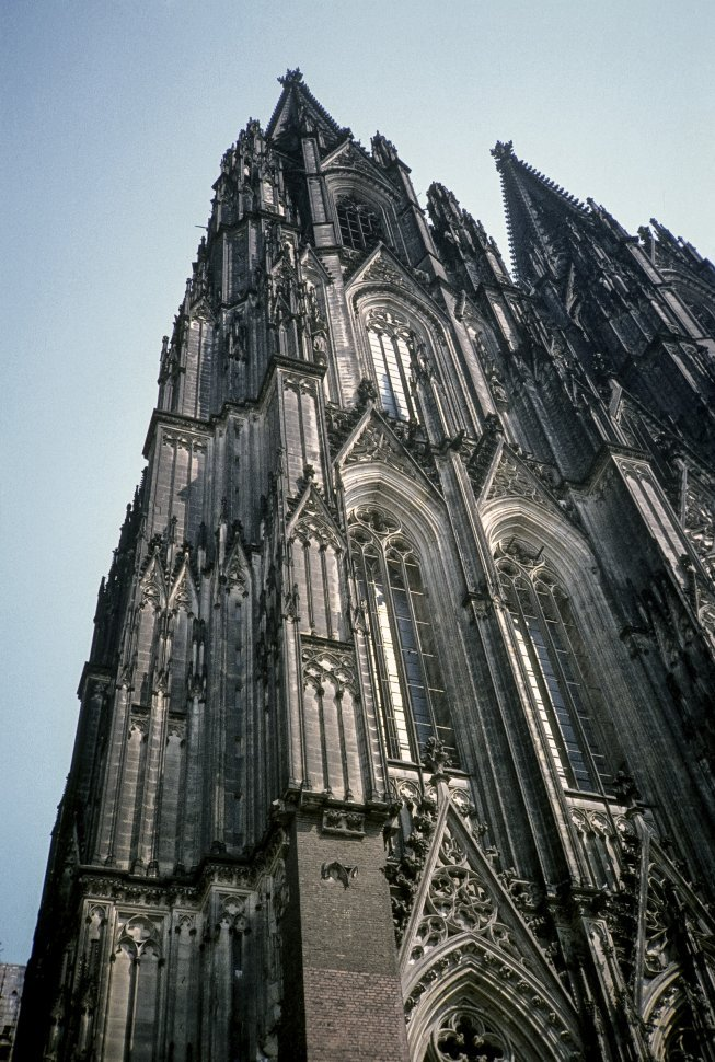 Free image of Image of the facade of a medieval church, Europe