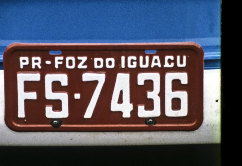 Free image of Close up of a license plate, Brazil