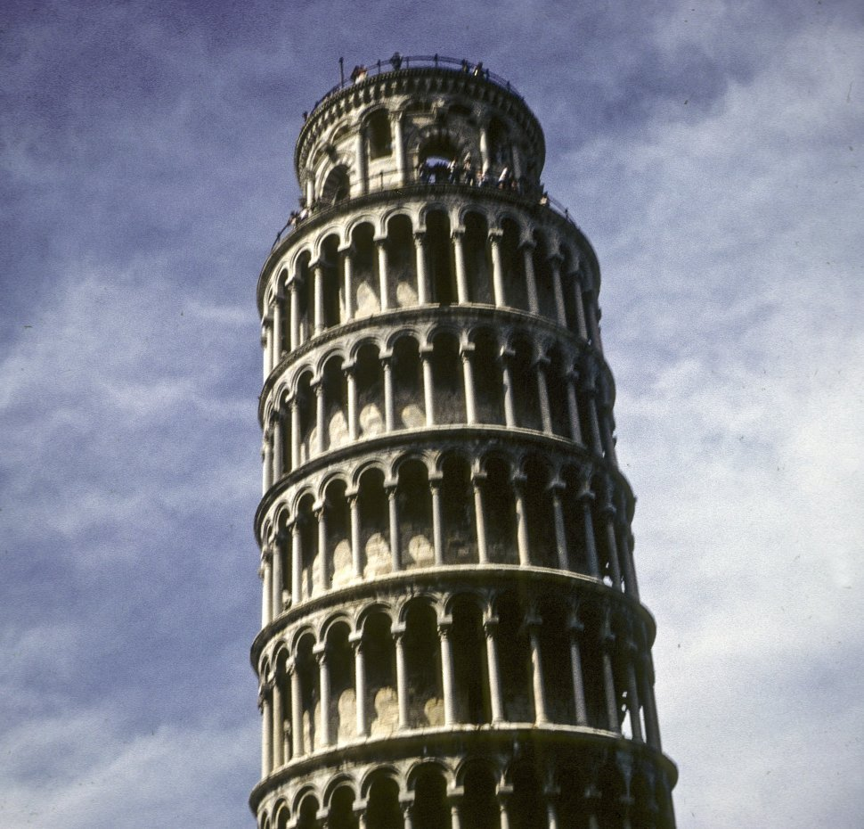 Free image of The Leaning Tower of Pisa against the sky, Italy