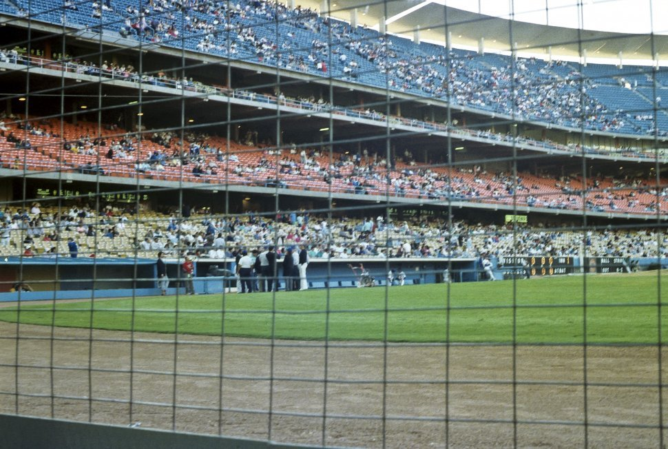 Free image of Fans in the tiers of a baseball stadium.