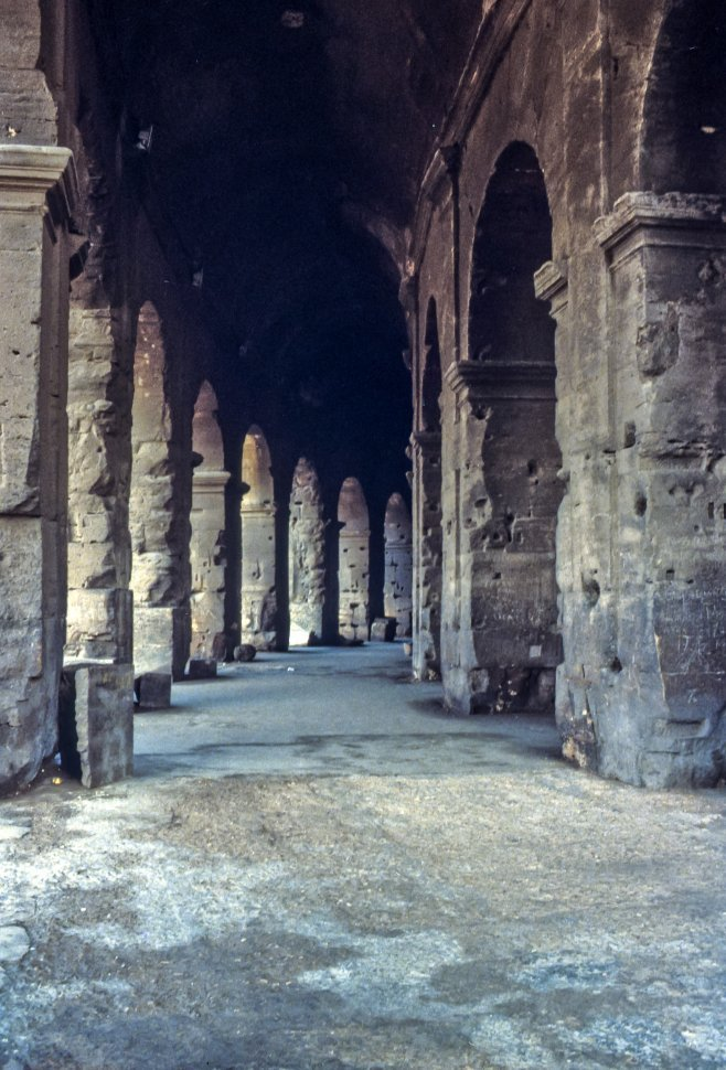 Free image of Stone columns lining a walkway.