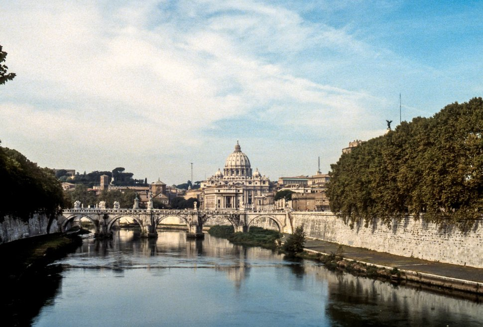Free image of Dome of St Peter s Basilica in the distance, Italy