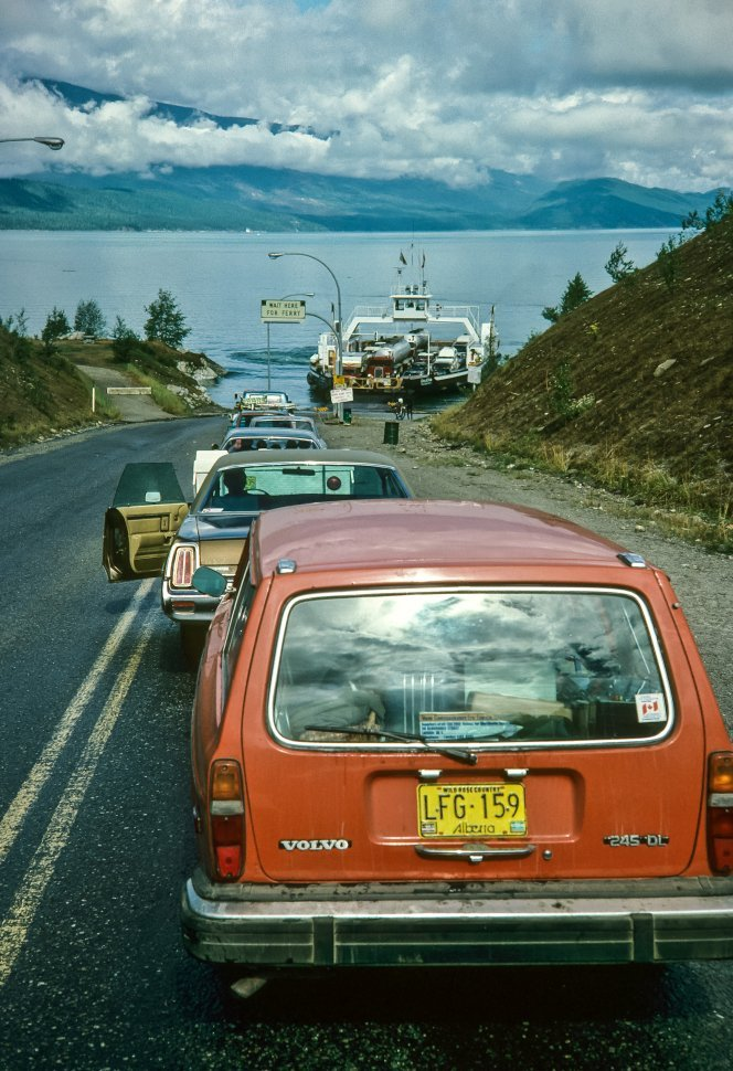 Free image of Cars sitting and waiting to board the ferry.