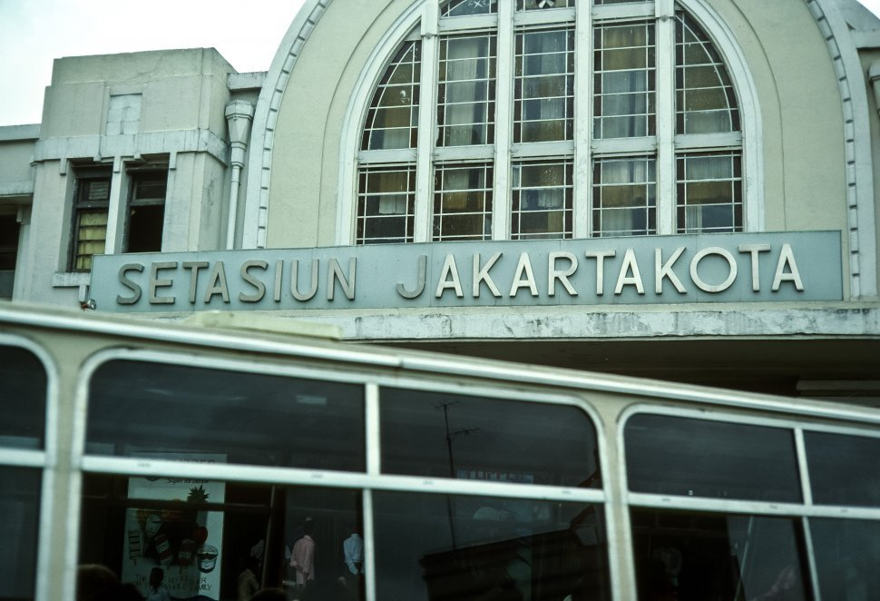Free image of Sign on the front of the Jakarta Station, Indonesia