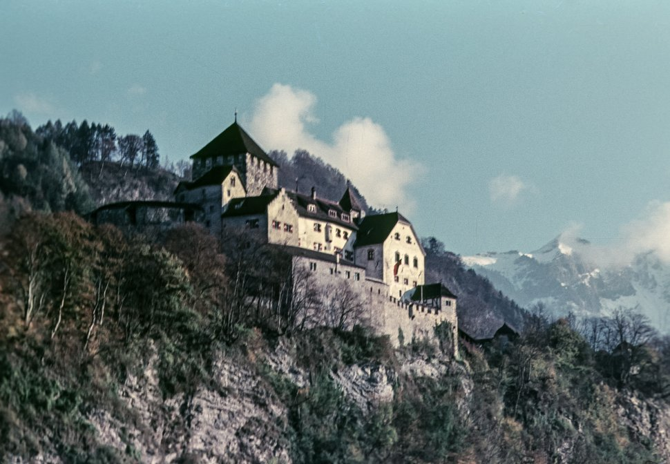 Free image of Castle built into a mountain hillside, Europe