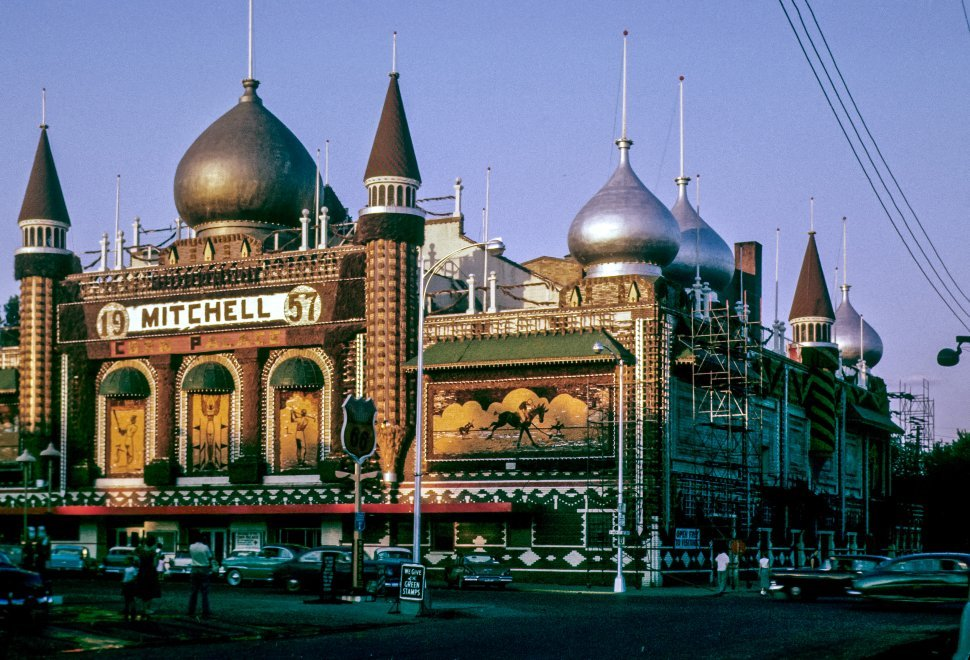Free image of Metallic domes of a building shining in the sun. Mitchell, South Dakota, USA.