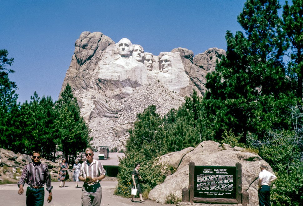 Free image of Group of tourists visiting Mount Rushmore, South Dakota, USA