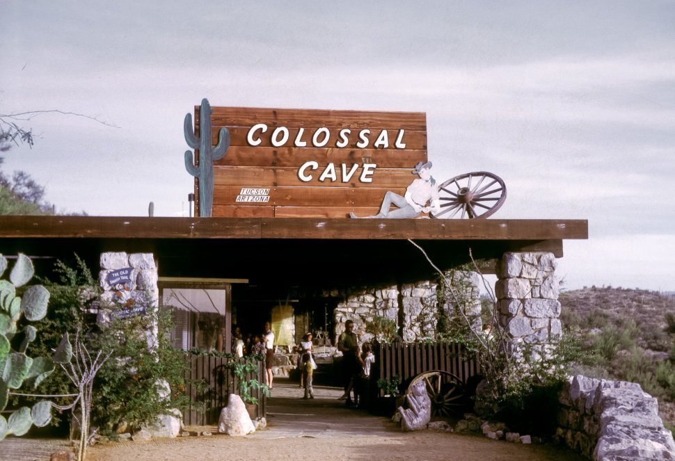 Free image of Sign for Colossal Cave entrance and visitor center, Arizona, USA