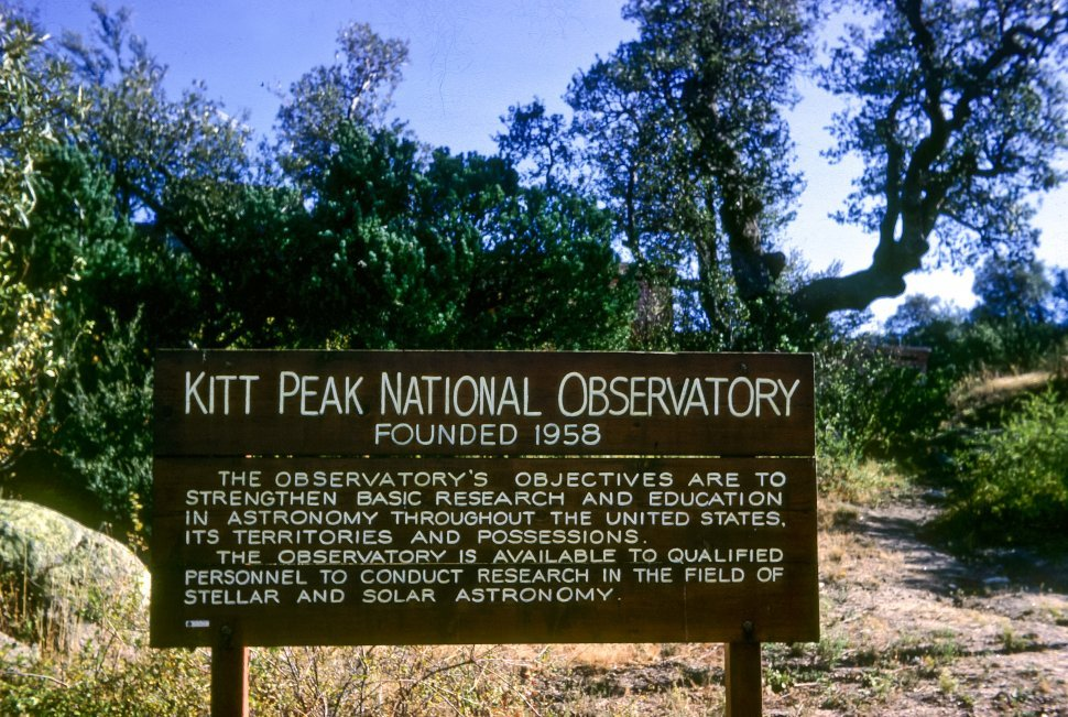 Free image of Kitt Peak Observatory sign, Sonoran Desert, Arizona, USA