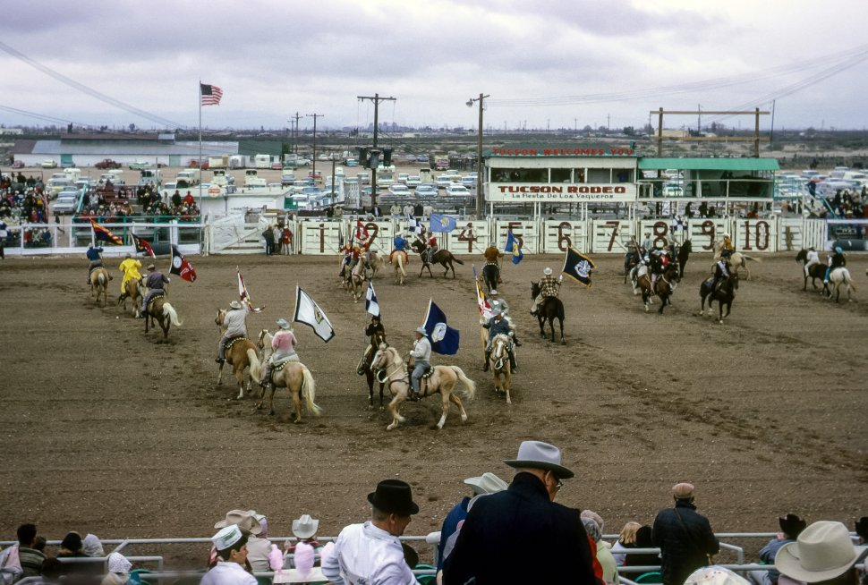 Free image of Crowd and performers at the Tucson Rodeo, Tucson, Arizona, USA