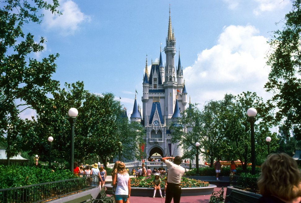 Free image of Crowd in front of Cinderella s Castle at Disneyland, Anaheim, California, USA