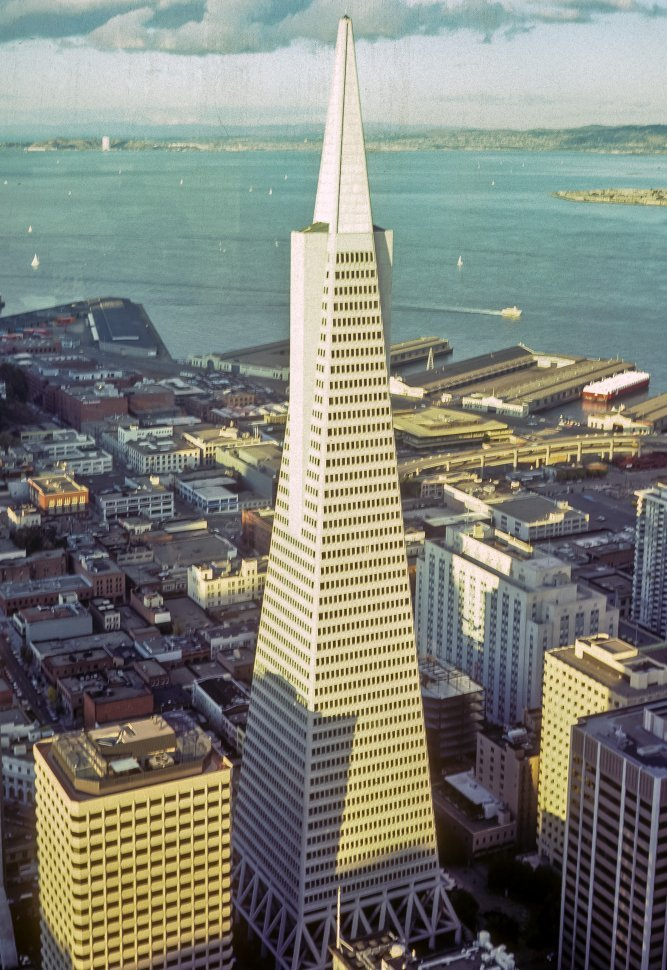 Free image of Aerial view of the TransAmerica building, San Francisco, California, USA