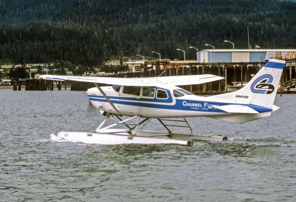 Free image of Float plane floating in the water, Juneau, Alaska, USA