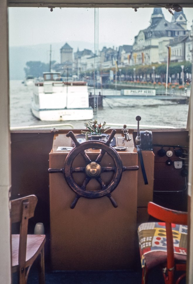 Free image of Captain s chair at the wheel of a boat, Europe