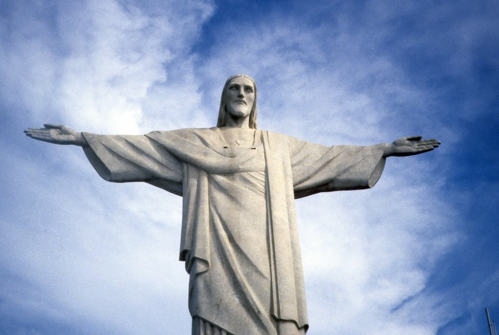 Free image of Corcovado the Redeemer or Christ the Redeemer statue, Rio de Janeiro, Brazil