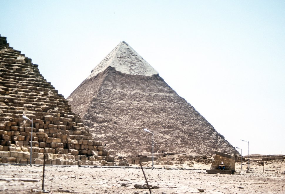 Free image of Image of one of the Great Pyramid in the desert, Egypt