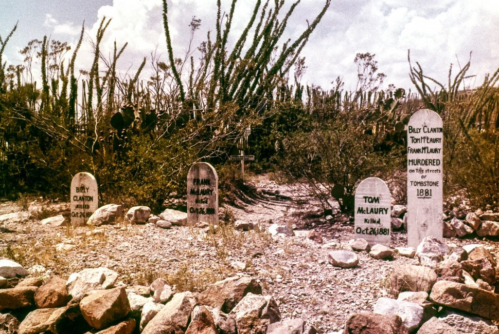 Free image of Western Tombstone, Arizona cemetary in the desert, USA