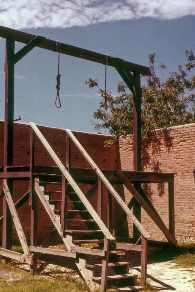 Free image of Gallows knot and platform in a Tombstone, Arizona, USA