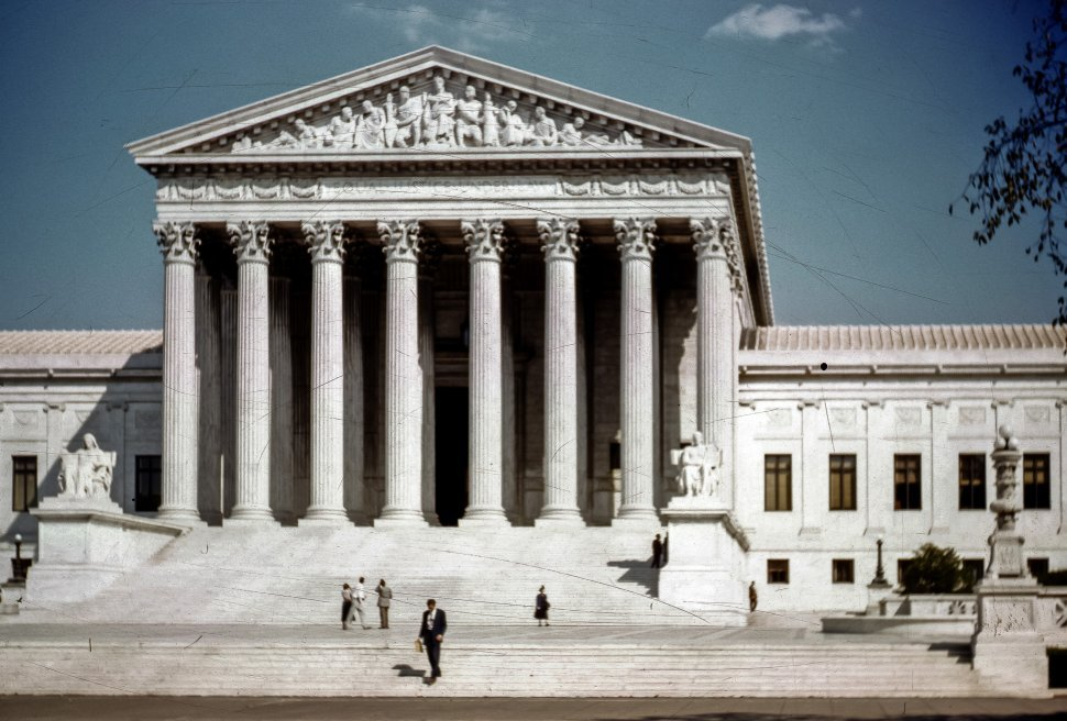 Free image of US Supreme Court building front steps, Washington D.C., USA