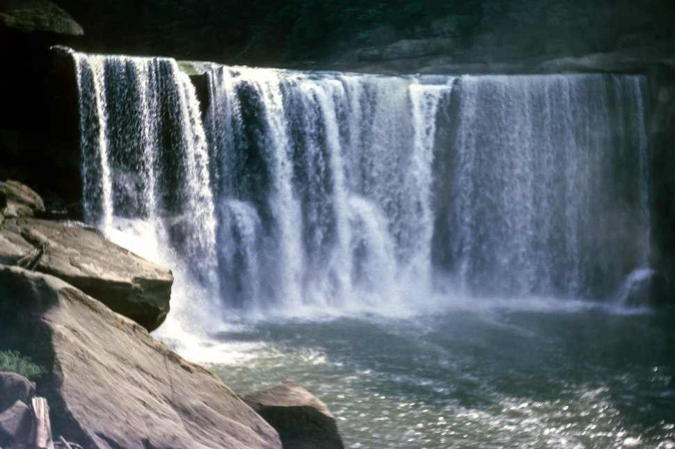 Free image of Misting waterfall in the landscpe, USA