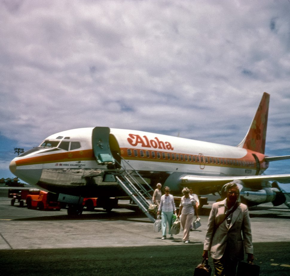 Free image of Tourists arriving at airport, Hawaii, USA