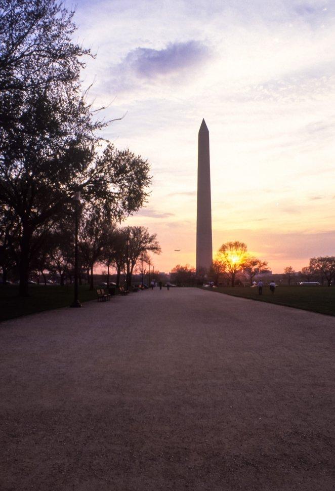 Free image of Washington Monument in the sunset, Washington D.C., USA