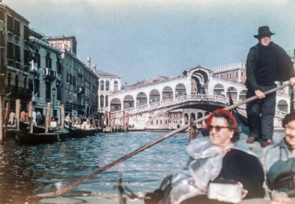 Free image of Tourists on a gondola ride, Venice, Italy