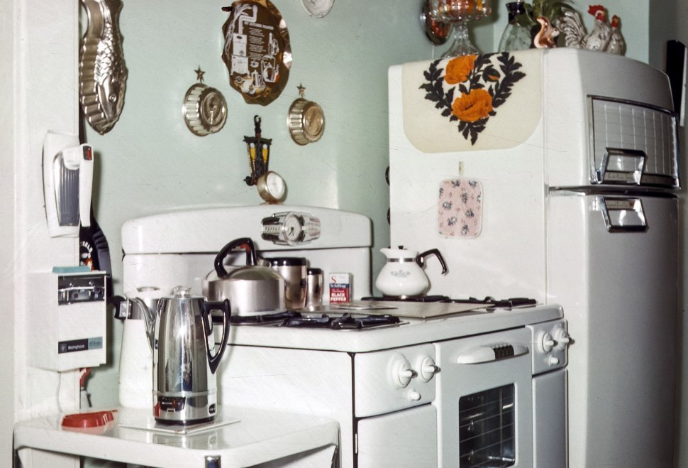 Free image of Retro kitchen and appliances, USA