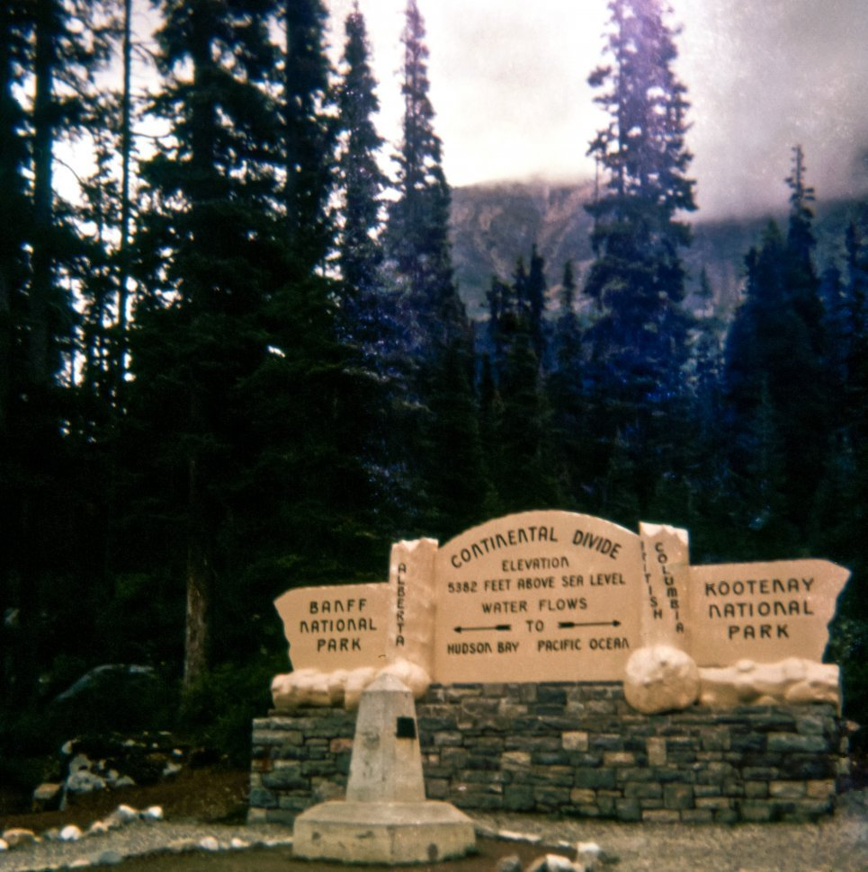 Free image of Sign at the Continental Divide, Banff National Park, Canada