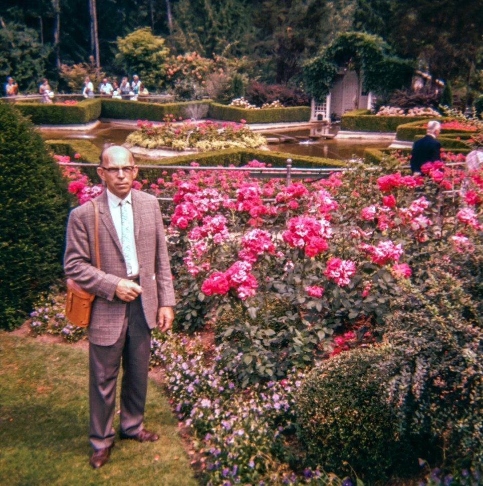 Free image of Man posing in a garden park, USA