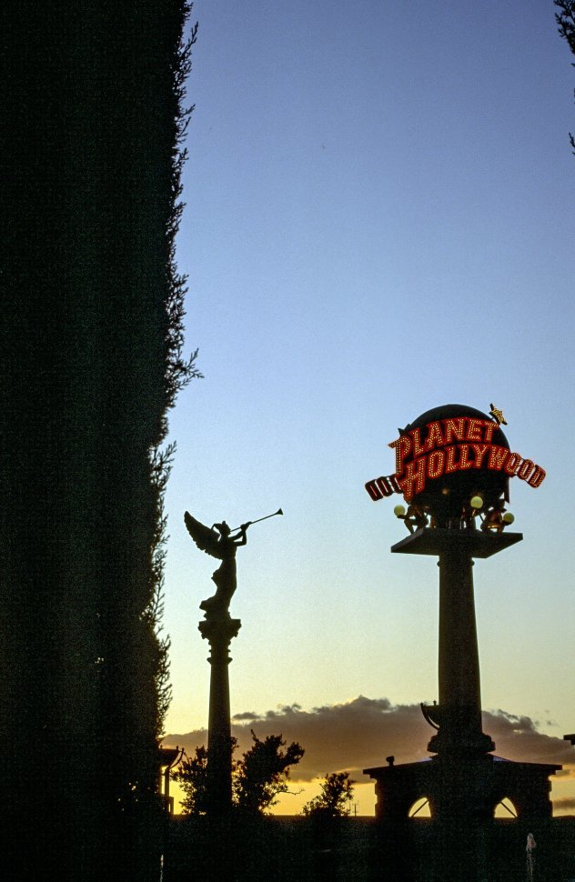 Free image of Planet Hollywood Resort Logo Seen During Sunset - Las Vegas