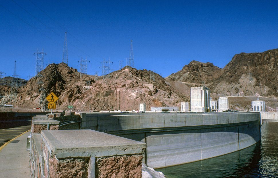 Free image of Hoover Dam in the Black Canyon of the Colorado River
