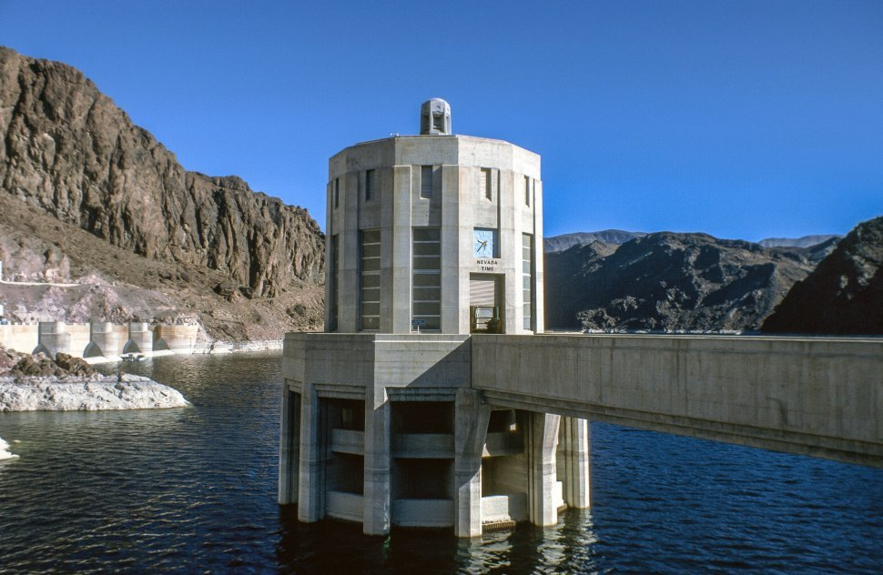 Free image of Penstock towers at Hoover Dam