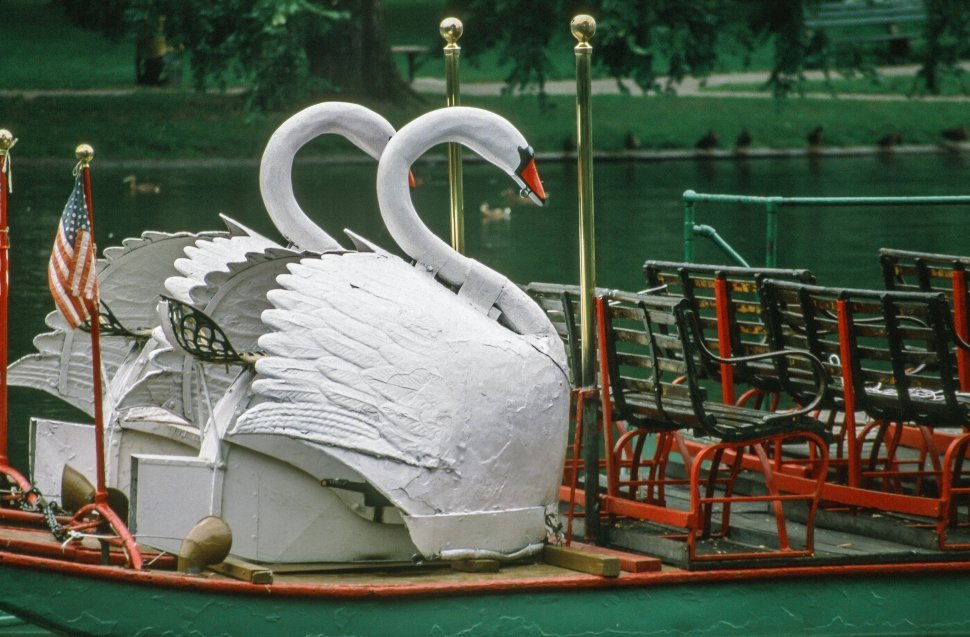 Free image of View of Swan Boat in Boston