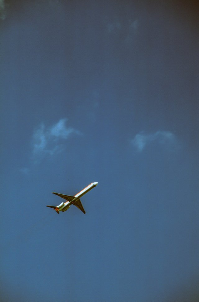 Free image of Airplane in Blue Sky