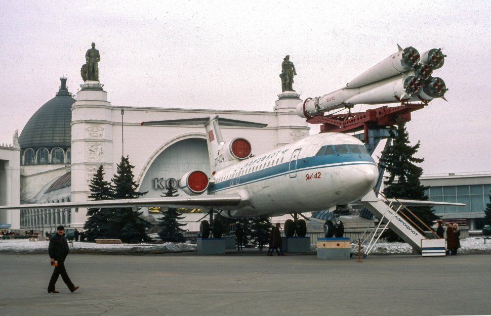 Free image of Satellite and airplane at Cosmodrome in  U.S.S.R