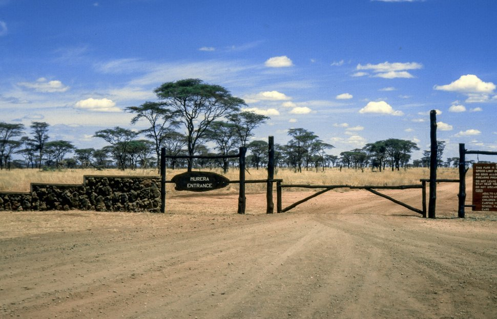 Free image of Entrance of Meru National Park in Kenya