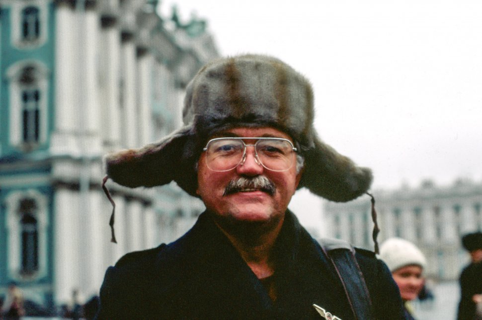 Free image of Old Man in Ushanka Cap - U.S.S.R
