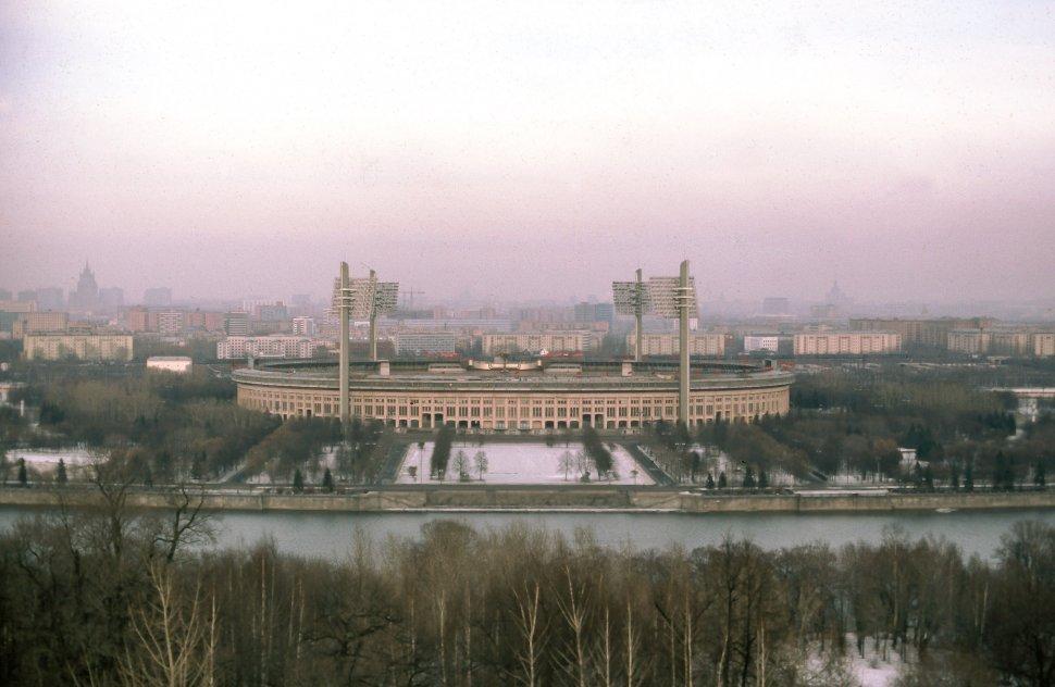 Free image of View of Vladimir Lenin Central Stadium in U.S.S.R