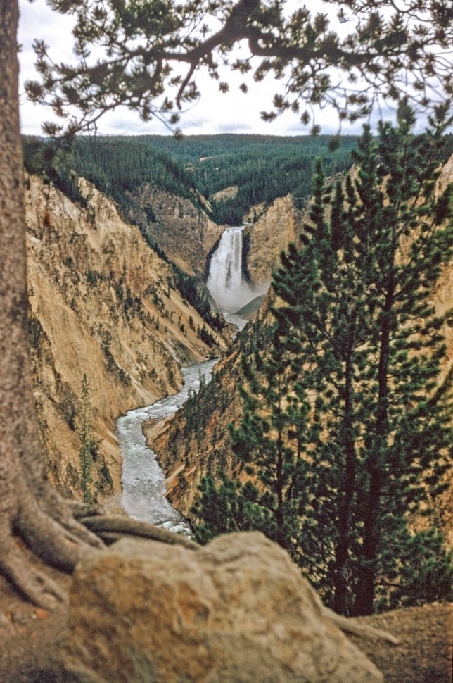 Free image of View of Upper Yellowstone Falls