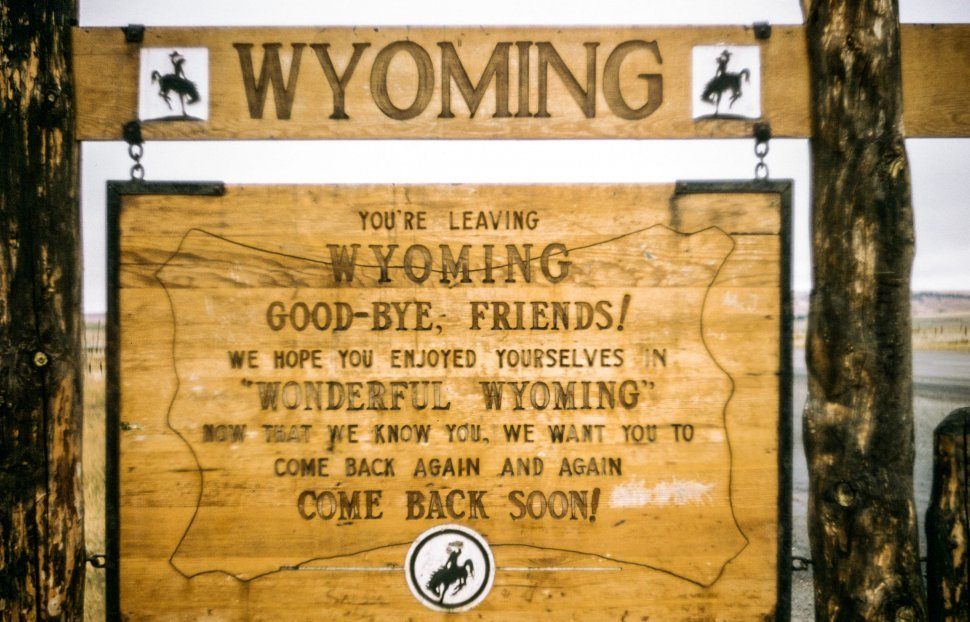 Free image of Close-up of Goodbye From Wyoming Board