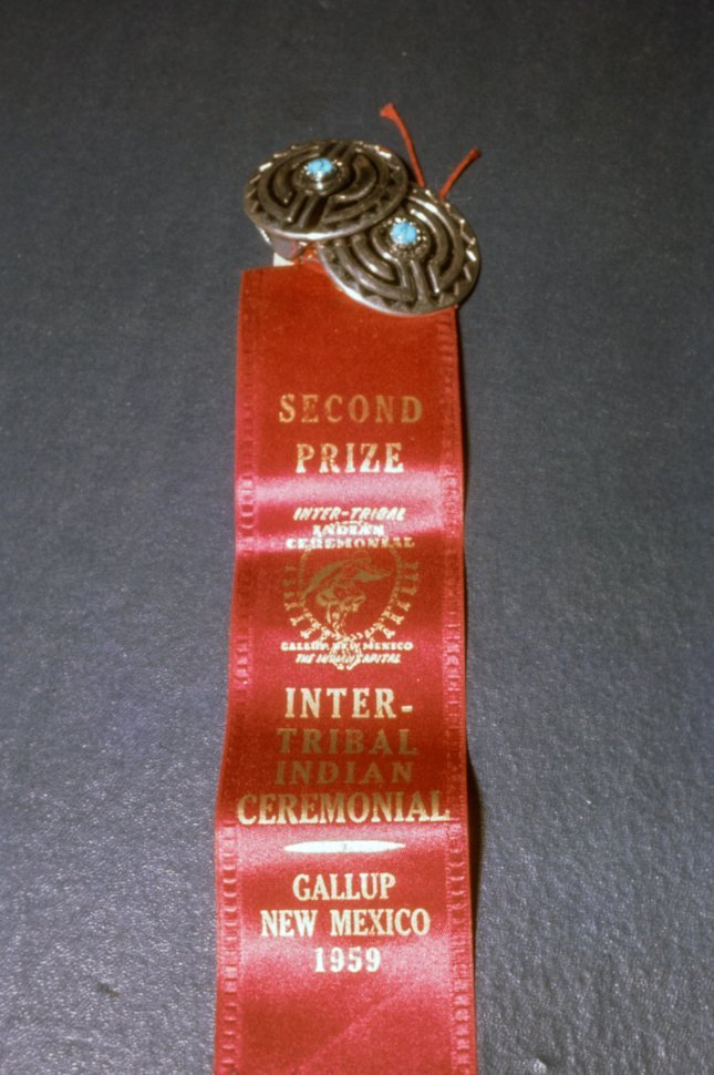 Free image of Badge and Red Ribbon for Second Prize Winner