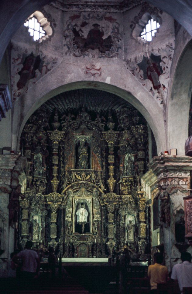 Free image of Mission San Xavier del Bac interior view in Tucson Arizona